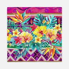 Tropical Watercolor Queen Duvet