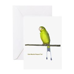 Gold Mantle Raquet Tail Greeting Card