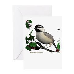 Mountain Chickadee Greeting Card