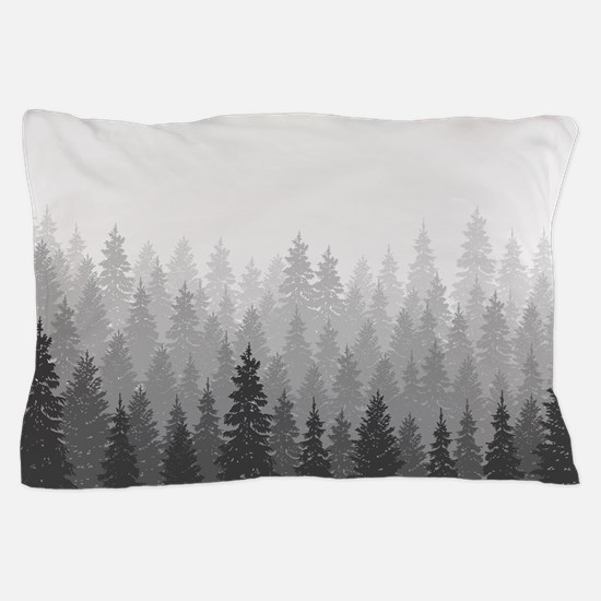 Gray Forest Pillow Case
