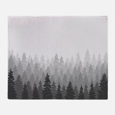 Gray Forest Throw Blanket