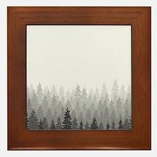 Gray Forest Framed Tile