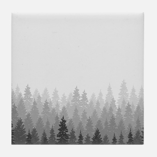 Gray Forest Tile Coaster