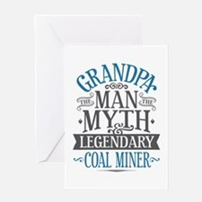 Grandpa Coal Miner Greeting Card