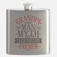 Grandpa Farmer Flask