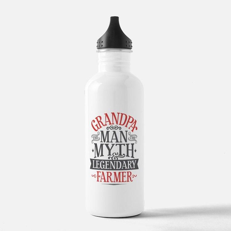 Grandpa Farmer Water Bottle