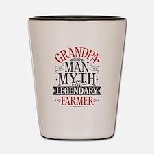 Grandpa Farmer Shot Glass