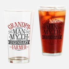 Grandpa Farmer Drinking Glass