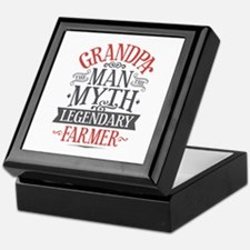 Grandpa Farmer Keepsake Box