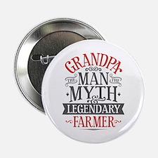 """Grandpa Farmer 2.25"""" Button"""