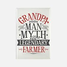 Grandpa Farmer Rectangle Magnet
