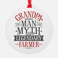 Grandpa Farmer Ornament