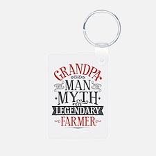 Grandpa Farmer Keychains