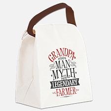 Grandpa Farmer Canvas Lunch Bag