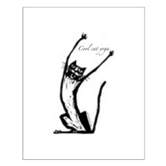 Cool Cat Yoga Posters