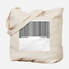 Almost Human Barcode Tote Bag