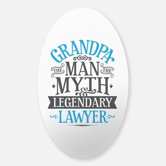 Grandpa Lawyer Sticker (Oval)
