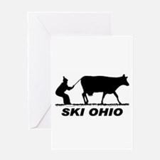 The Ski Ohio Shop Greeting Card