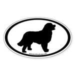 Bernese Mountain Dog (inner border) Oval Sticker