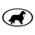 Bernese Mt. Dog (inner border) Oval Sticker