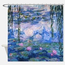 WATER LILIES CLAUDE MONET Shower Curtain