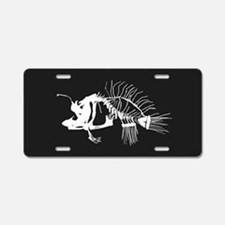 Angler Fish Aluminum License Plate