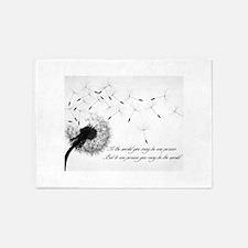 Dandelion Inspiration Small Poster 5'x7'Area Rug