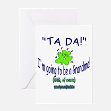 TA DA IRISH GRANDMA TO BE Greeting Card