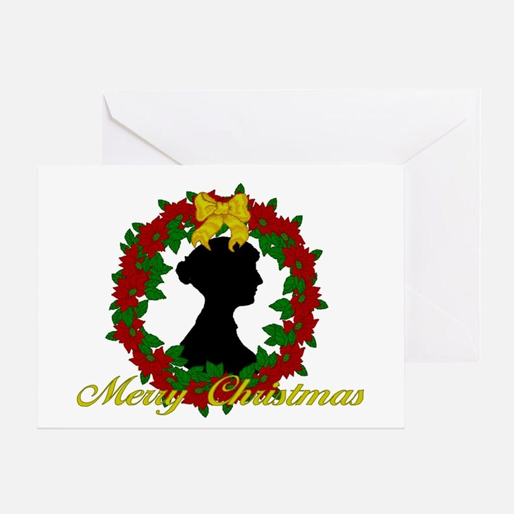 Jane Austen Christmas Greeting Card