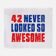 42 Never looked So Much Awesome Throw Blanket