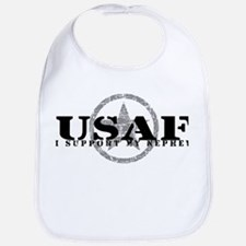 I Support My Nephew - Air Force Bib