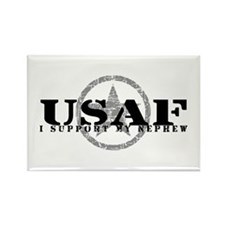 I Support My Nephew - Air Force Rectangle Magnet