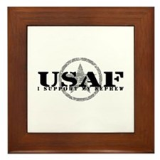 I Support My Nephew - Air Force Framed Tile