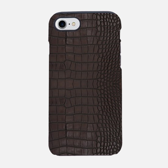 Gator Brown Leather iPhone 8/7 Tough Case