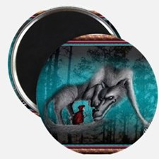 Red Meets the Wolf Magnets