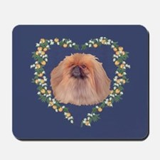 Pekingese Orange Blossom Mousepad