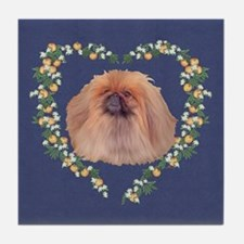 Pekingese Orange Blossom Tile Coaster