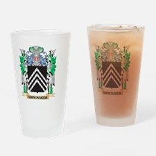 Shoemaker Coat of Arms - Family Cre Drinking Glass