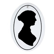 Jane Austen Oval Ornament