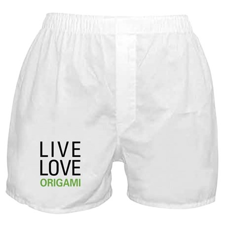 Live Love Origami Boxer Shorts
