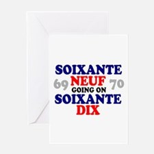 69 GOING ON 70 - FRENCH - Greeting Cards