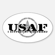 I Support My Girlfriend - Air Force Oval Decal