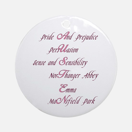 Jane Austen Ornament (Round)