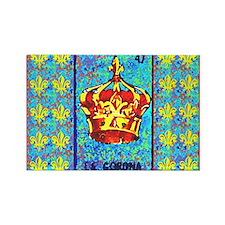 La Corona & Fleur de Lis Rectangle Magnet