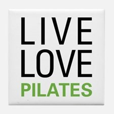 Live Love Pilates Tile Coaster