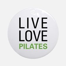 Live Love Pilates Ornament (Round)