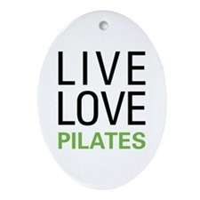 Live Love Pilates Oval Ornament