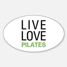 Live Love Pilates Oval Decal