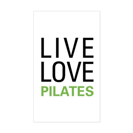 Live Love Pilates Rectangle Sticker