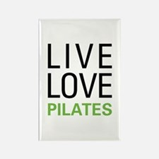 Live Love Pilates Rectangle Magnet